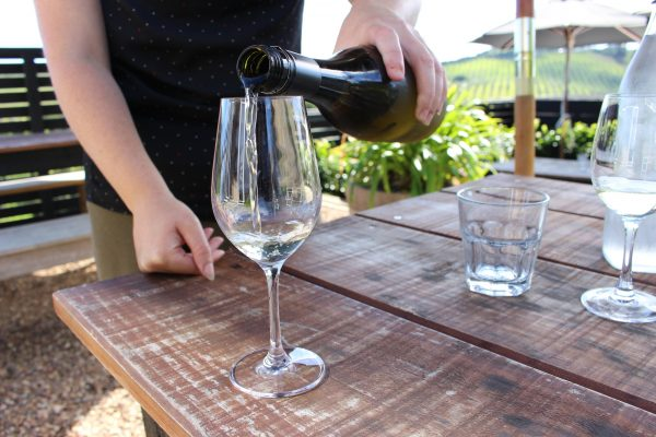 The wine tasting at Te Motu included sips of its signature vints.